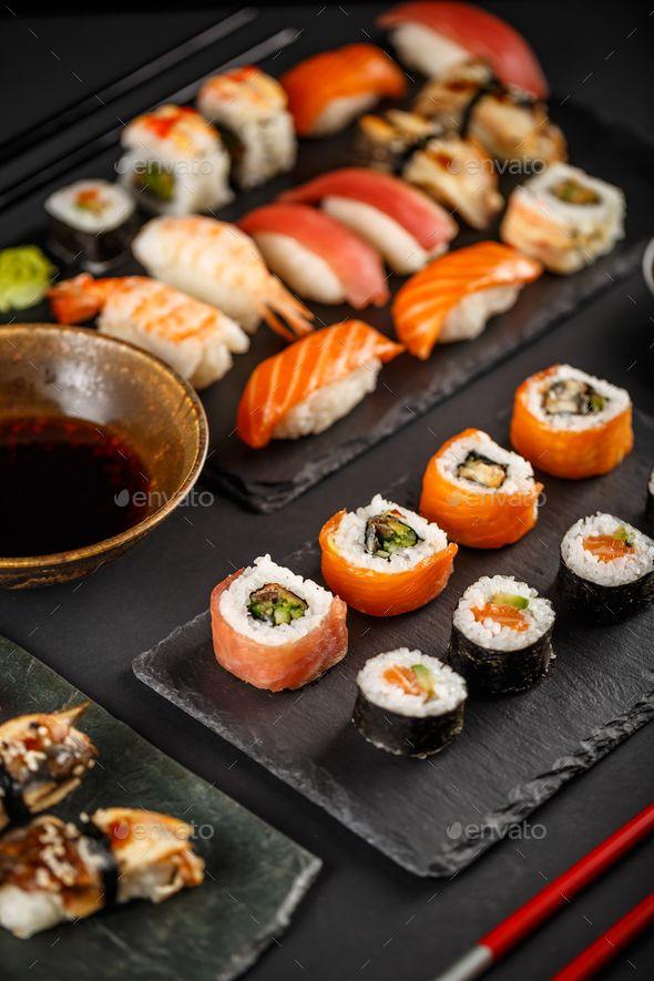 Sushi Maki Nigiri And Sashimi By Grafvision Japanese Favorite