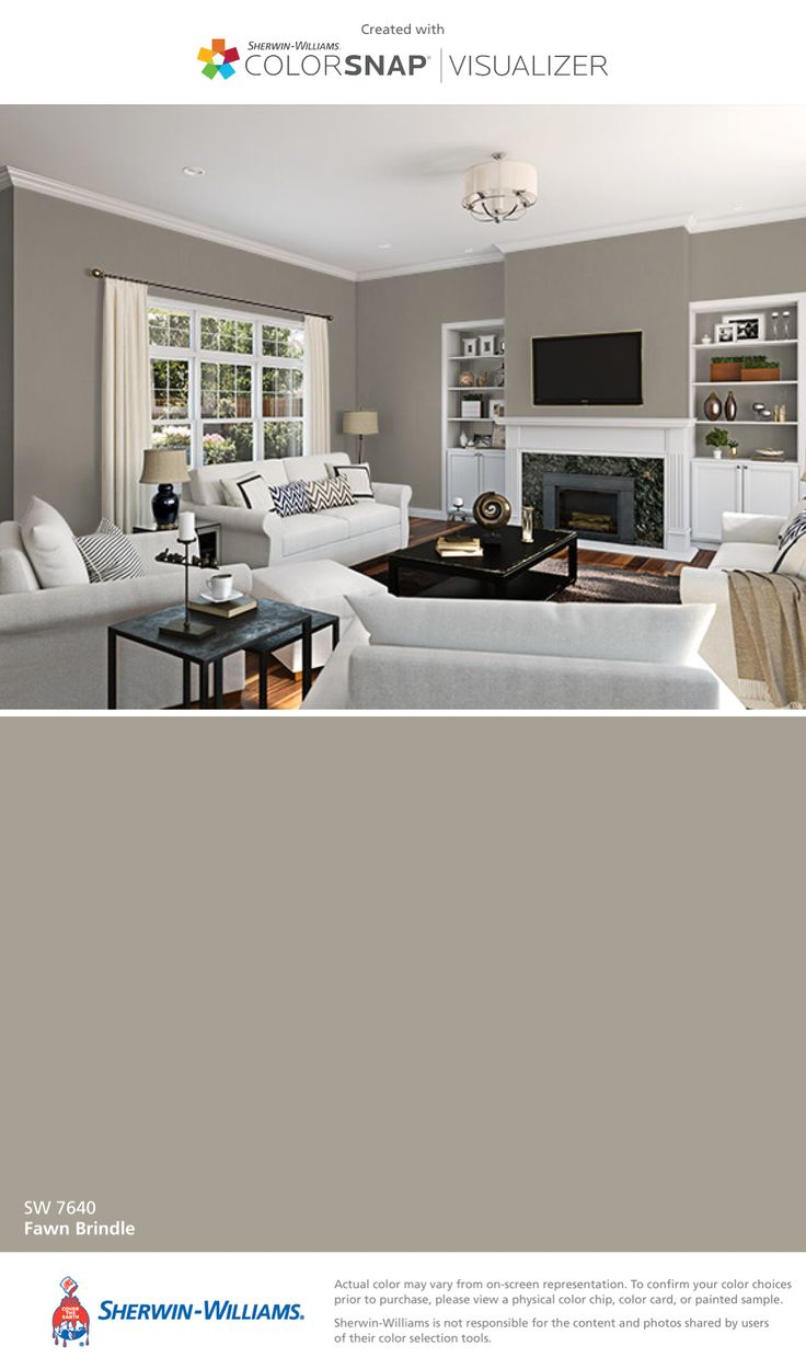 I found this color with ColorSnap® Visualizer for iPhone by Sherwin-Williams: Fawn Brindle (SW 7640).