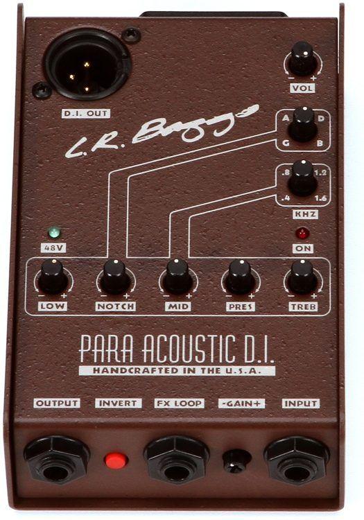 Lr Baggs Para Di Acoustic Guitar Preamp Di With 5 Band Eq Acoustic Baggs Acoustic Guitar