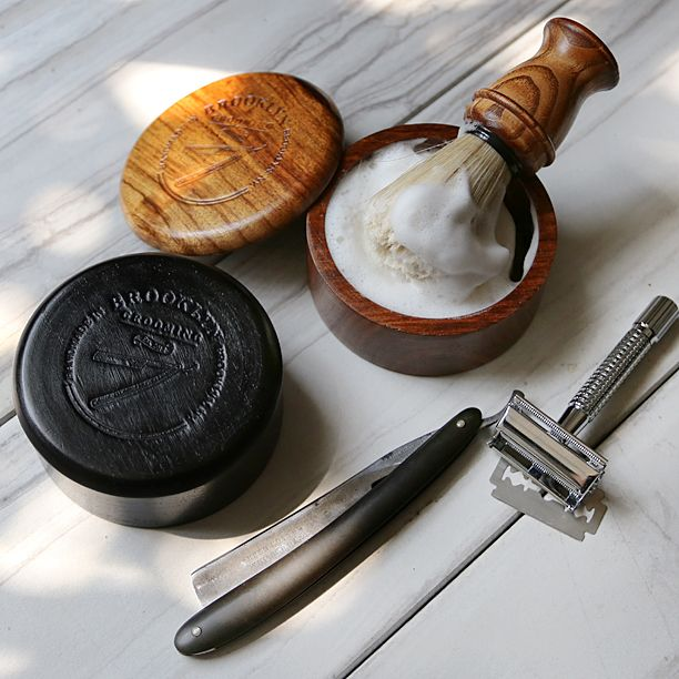 Show off your unique style and classy up that bathroom sink with our limited edition handcrafted wooden shave bowl with lid. The perfect accompaniment to your favorite beard or shaving soap! Available in charcoal and dark oak finish