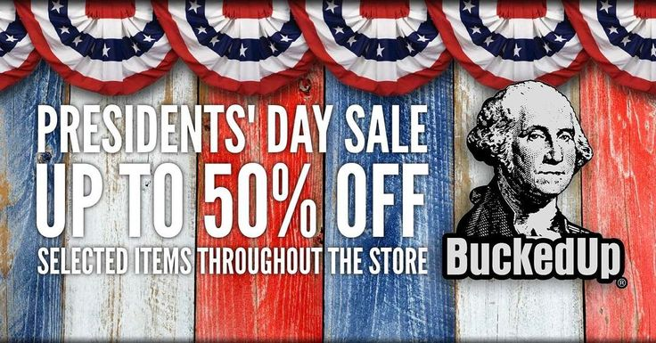 The Presidents' Day  Starts now! Up to 50% OFF selected items throughout the store. Available while supplies last. Visit  BuckedUpApparel.com  #hunting and #fishing #apparel