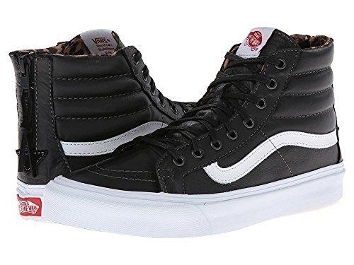 [バンズ] Vans レディース SK8-Hi Slim Zip スニーカー (Leather) Black/Leopard Mens 8 Womens 9.5 - Medium [並行輸入品]