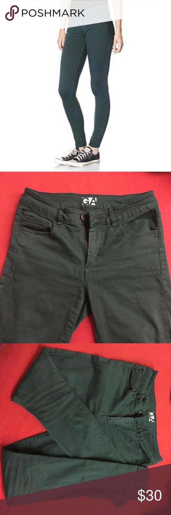Hunter Green Garage High Waist Jeggings Worn two to three times. Make an offer. Garage Jeans Skinny