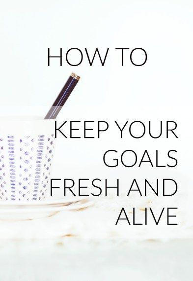 the drive to keep going after my goals Your goals can either be focused on your behaviors (eg, i'm going to write 500 words per day) or on the outcomes you're seeking (eg, i'm going to get published in the new york times by june 1.