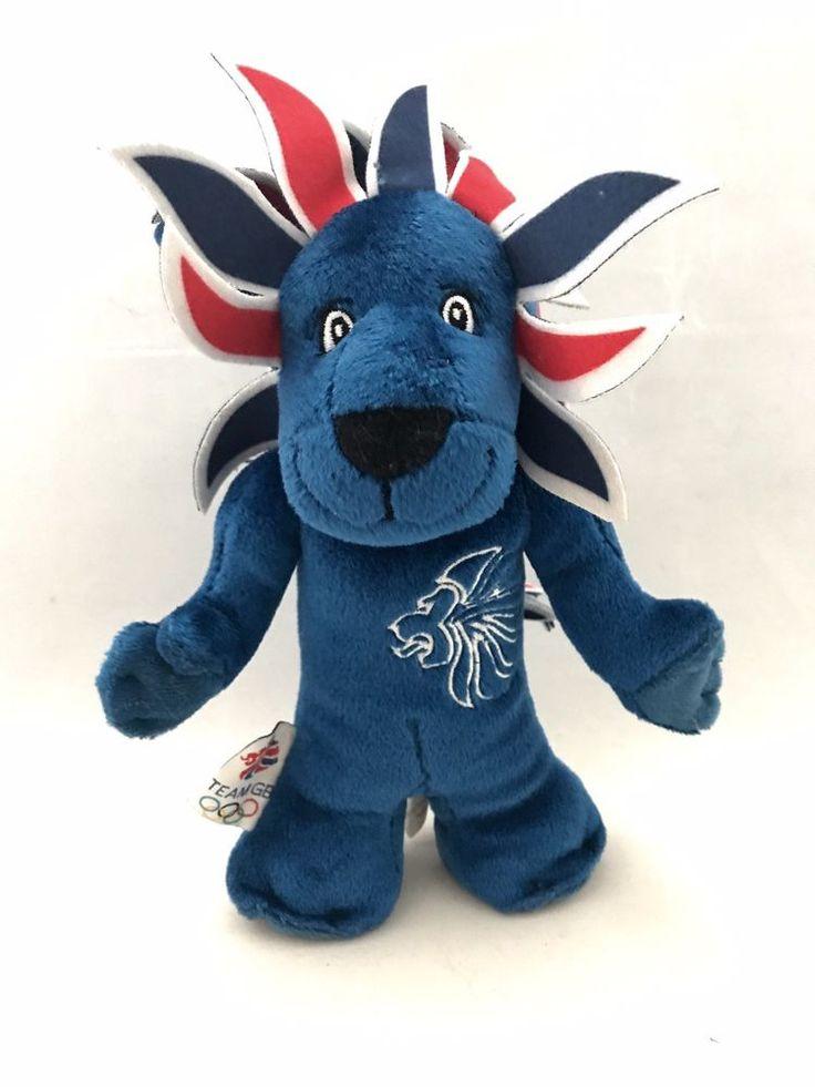 "London 2012 Olympics Team GB Mascot Blue Pride The Lion Soft Toy 8"" Plush Rare     eBay"