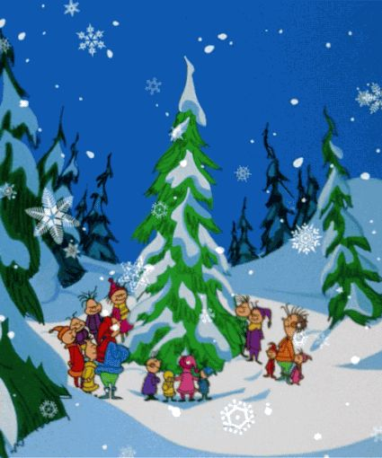 """televisionmusicals:  Dr. Seuss' How the Grinch Stole Christmas. 30 minutes. Animated Musical. Broadcast December 18, 1966. (Sunday, 7-7:30pm) CBSWriter/Lyricist: Theodore Seuss Geisel; Composers: Albert Hague, Eugene Poddany. Cast: (voices): Boris Karloff (narrator), Thurl Ravenscroft, June ForaySongs: """"You're a Mean One, Mr. Grinch,"""" """"Welcome Christmas,"""" """"Trim Up the Tree."""" More information inTelevision Musicals, by Joan Baxter (2012)."""