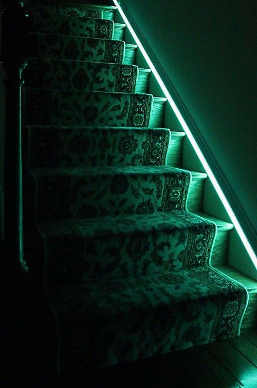 Lighting Basement Washroom Stairs: 21 Best Images About Rope Lights On Pinterest
