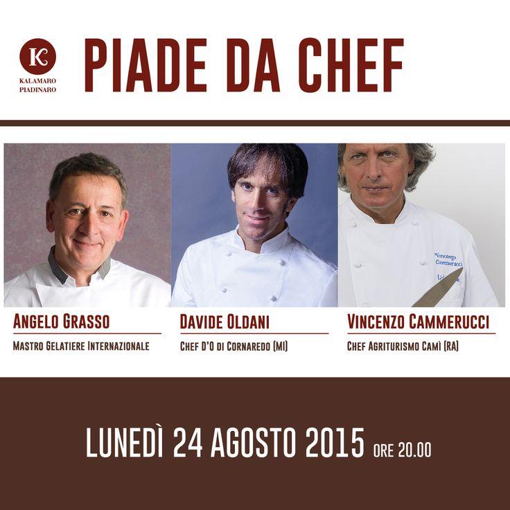 Piade da Chef • Kalamaro Piadinaro Riccione • Davide Oldani, Vincenzo Cammerucci, Angelo Grasso