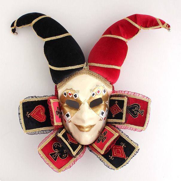 Ручная работа Венецианская интерьерная маска Карточный Джокер