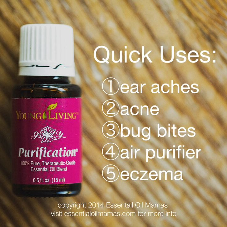 EssentialOilMamas.com Uses for Purification, Young Living Essential Oils, Young Living, YLEO, ear aches, ear infection, acne, bug bites, itching bug bite, bug repellent, mosquitos, air purifier, diffuse, eczema