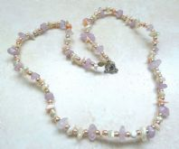 Vintage Amethyst, Coral And Pearl Necklace.