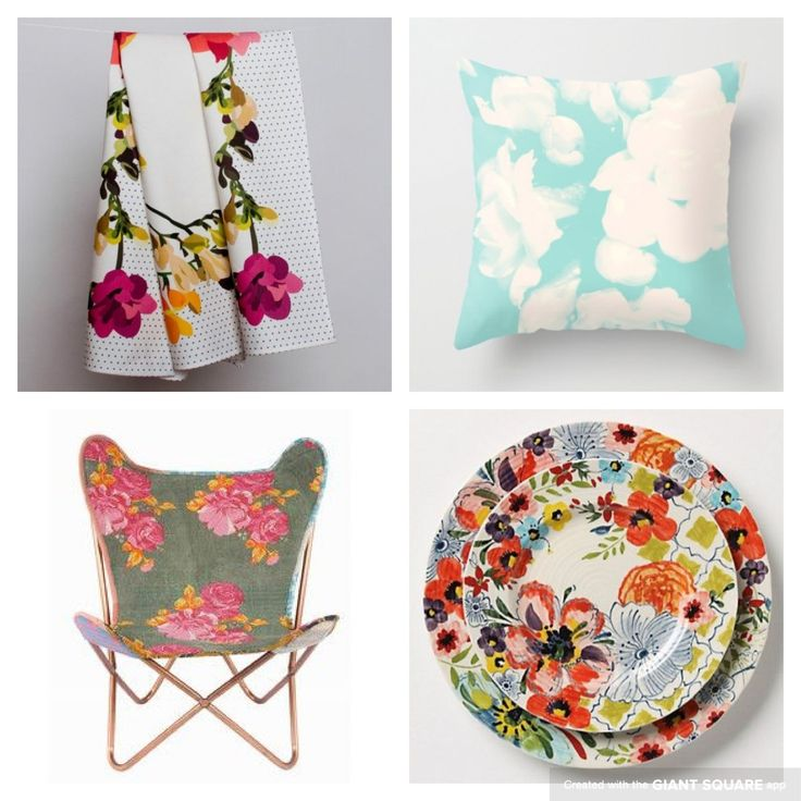 Floral living From etsy, anthropologie & @fab.com
