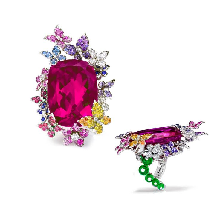 Anna Hu Haute Joaillerie cocktail ring