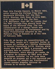 Flag of Canada plaque, Royal Military College of Canada, Kingston, Ontario, Canada