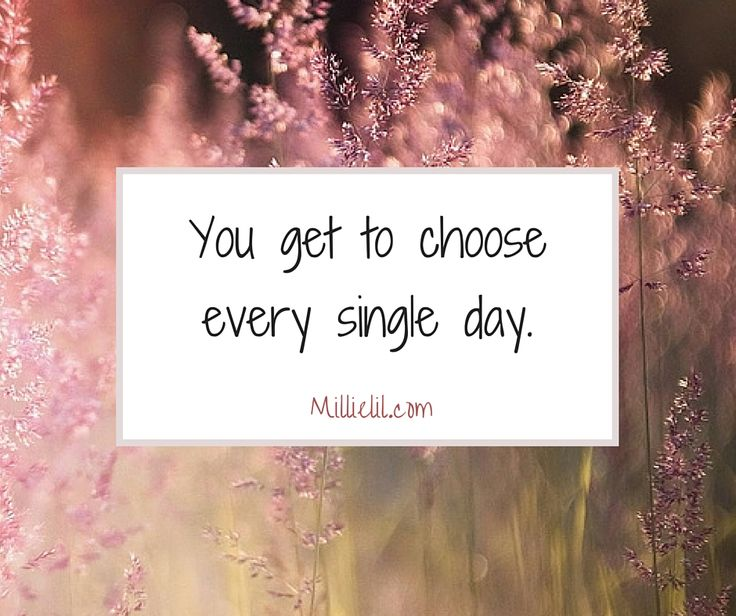 You get to choose every single day. Do you choose to focus on how lucky you are? How grateful you are? Do you choose to be enthusiastic about all of life's opportunities? I am by no means encouraging to ignore your real feelings, but no one ever created a 'happy ending' with worrying. You can decide how to fill up your days. Hope and gratitude creates more to be hopeful about and more to be thankful for.