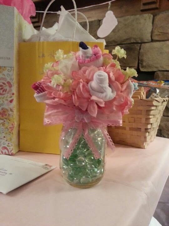 Baby sock bouquet Baby shower ideas