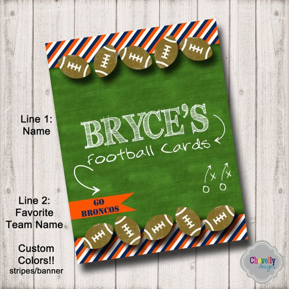 BI010 Custom Binder Insert Football Cards by ChevellyDesigns