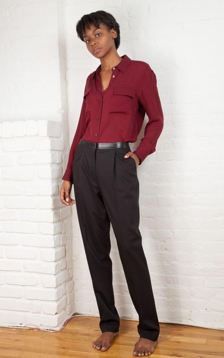 Slim Pleated Trouser