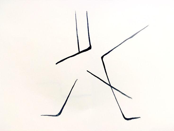 동양 특유의 무술 느낌을 표현해보았다. 특정한 무술의 몸짓이라기보단 직선적인 느낌과 곡선적인 느낌이 공존하는 전반적 동양예수ㄹ의 느낌을 살렸다. 이를 위해 동양예술의 주 재료인 붓펜을 사용했다