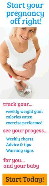 Weekly Pregnancy Weight Gain Tracker