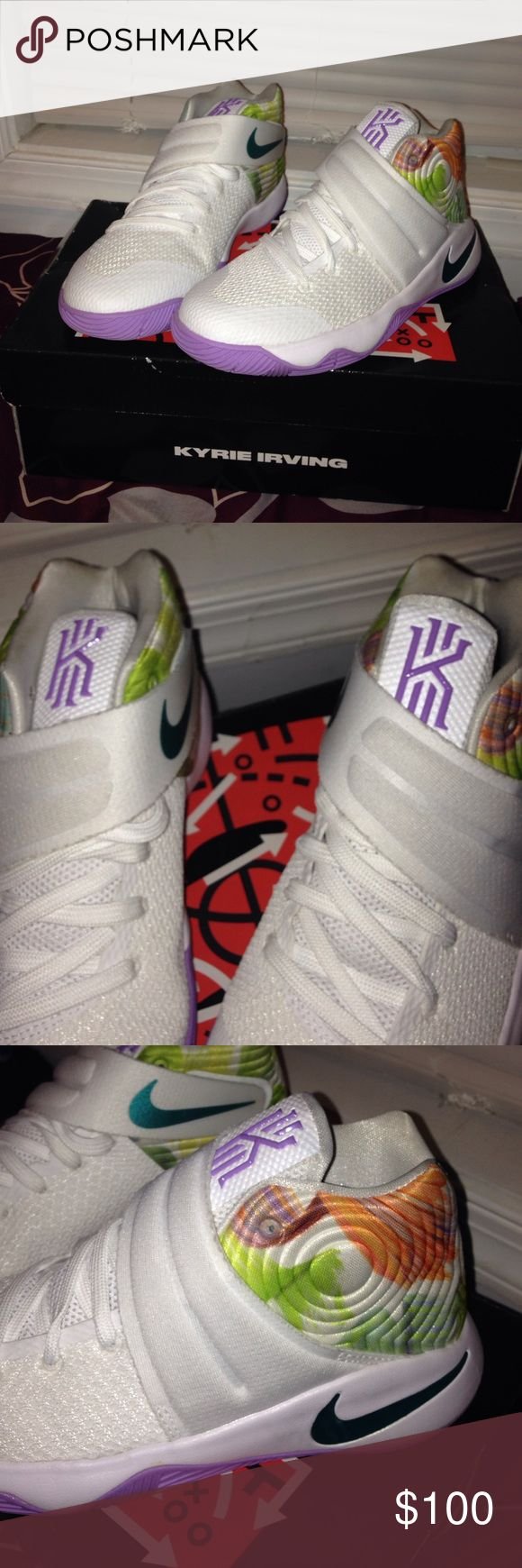 Kyrie sneakers These are a very different multi color sneaker in perfect condition and look brand new worn once.  Open for offers Kyrie 2 (GS) Shoes Sneakers