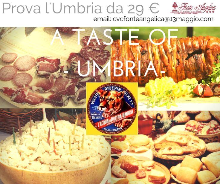 Try them all #AtasteofUmbria #FonteAngelica #NoceraUmbra #Assisi