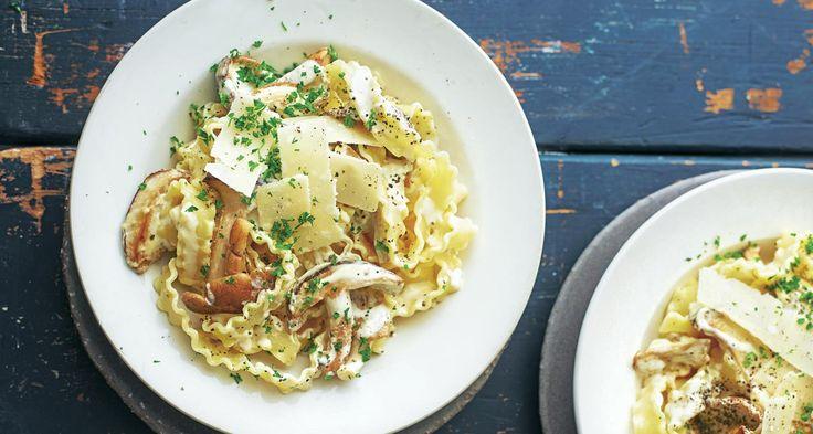 Ribbon pasta with exotic mushrooms | ASDA Recipes