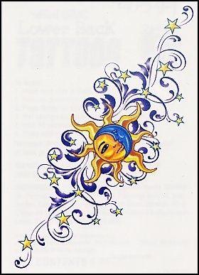 Sun & moon tattoo idea                                                                                                                                                     More