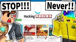 Tofuu Is Hacking Roblox And I Have To Stop Him Roblox Hack Hacks