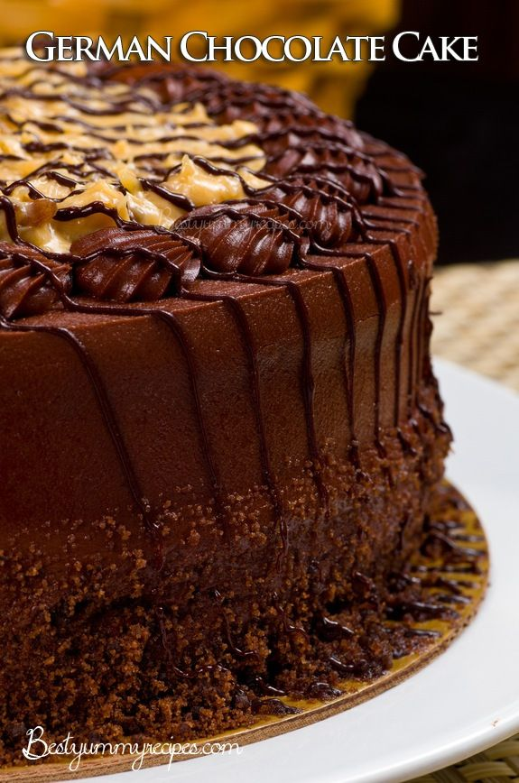 Decorating Ideas For German Chocolate Cake : 17 Best images about For the Love of Chocolate on ...