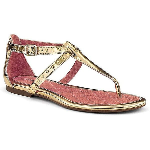 Sperry Top-Sider Summerlin Thong Sandal ($90) ❤ liked on Polyvore featuring shoes, sandals, flats, sapatos, sperry sandals, buckle sandals, summer shoes, leather sandals and leather flat shoes