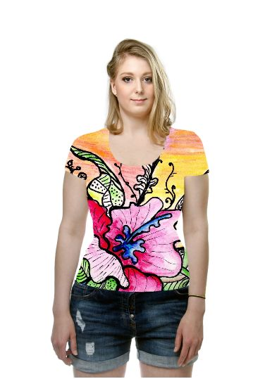 By valeria polledro, OArtTee specializes in creating amazing, vibrant and colorful Wearable Art