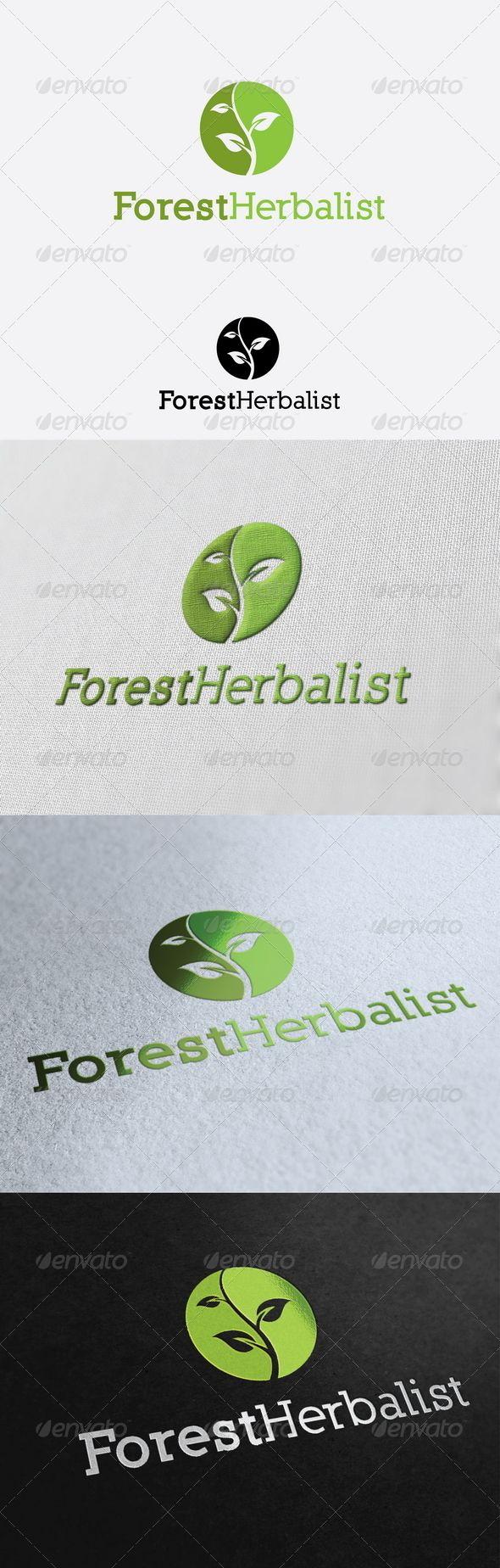 Forest Herbalist Logo Template 945 best LOGO