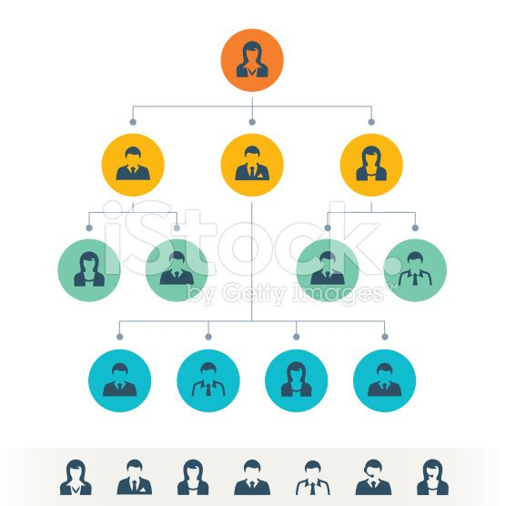 Organizational Chart royalty-free stock vector art