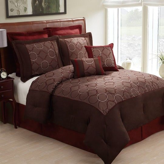 Olympia Brown 8 Piece Comforter Set Annas Linens