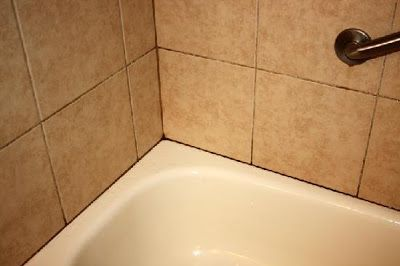 how to clean shower recess grout