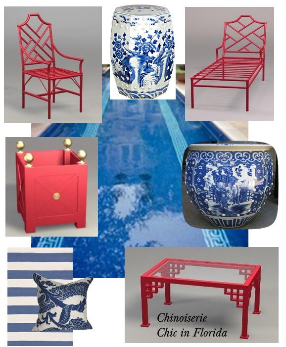 The Glam Pad: Chinoiserie Chic in Florida: The Backyard