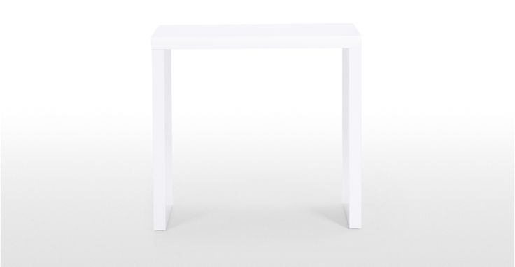Introduce to modern, minimalistic style to your room with the Bramante Small Console Table in white.