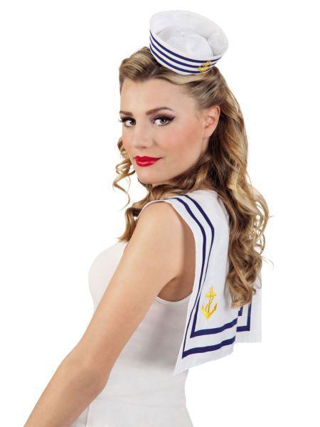"""https://11ter11ter.de/46747050.html Mütze """"Tiara Matrose"""" #11ter11ter #Fasching #Mottoparty #Party #Outfit #Kostüm #Mütze #Marine #maritim"""