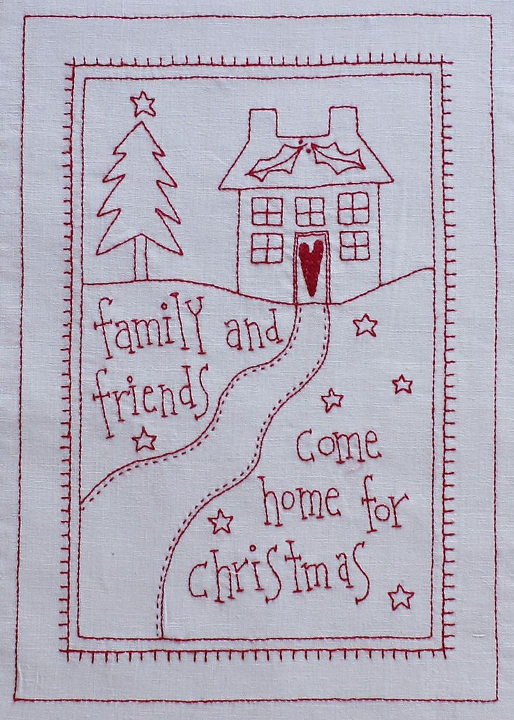 Redwork Quilt Patterns Christmas : 106 best Christmas Redwork images on Pinterest Christmas ...