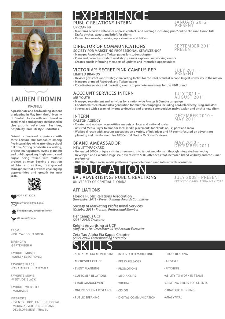 11 best resume samples images on pinterest