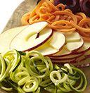 Spiralize vegetables with KitchenAid® mixer attachments.
