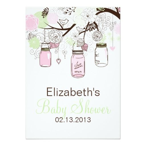 316 best images about mason jar baby shower invitations on, Baby shower invitations