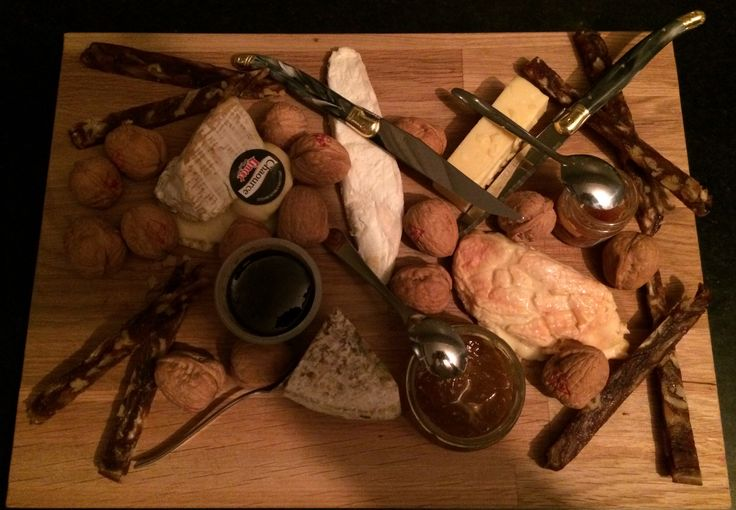 Cheese for dessert. Add nuts, grapes, figs, dades and plenty of Port, Elysium or somehat sweet red wine.