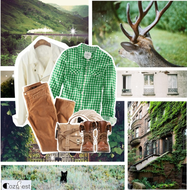 """into the wild"" by myduza-and-koteczka ❤ liked on Polyvore"