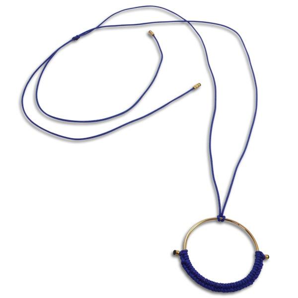 Collier Circle de Sab - Collier de créateur bleu et or