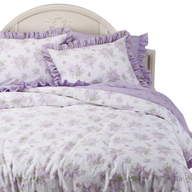 NEW Simply Shabby Chic Lilacs Duvet Shams Floral Bedding Set Lavender King