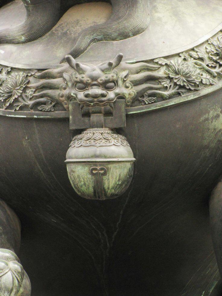 beijing - forbidden city - Chinese guardian lions detail