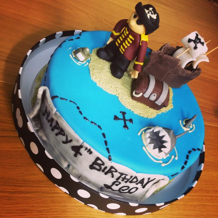 The Pirate Cake Chocolate cake covered in house made fondant.  Vegan and Gluten free.  Glegan. X marks the spot