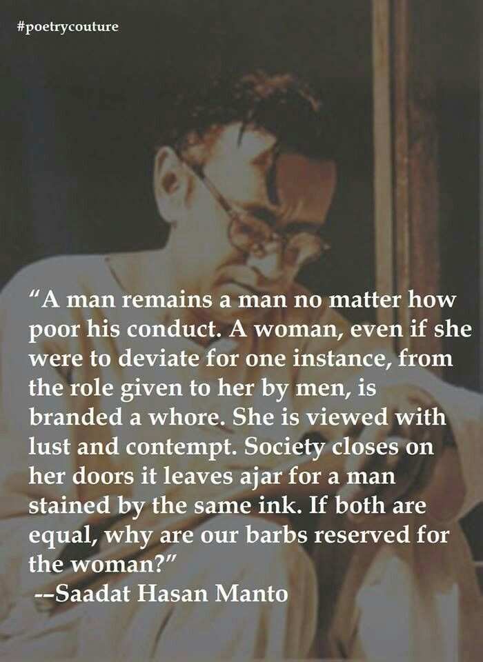 Man & Woman~ Saadat Hasan Manto